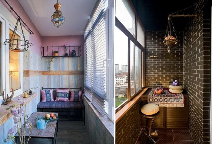 Идеи интерьера балкона с кальяном фото.